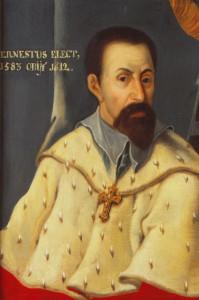 Ernst von Bayern Erzbischof und Kurfürst von Köln (1583-1612) Ölgemälde im Historischen Rathaus Linz (Ausschnitt)