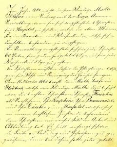 Erste Seite der Chronik des Hospitals St. Martinus
