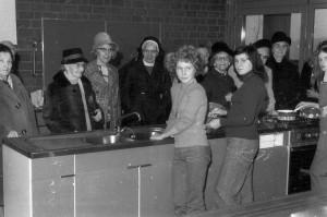 Bei der Einweihung des Altenheims, 1970